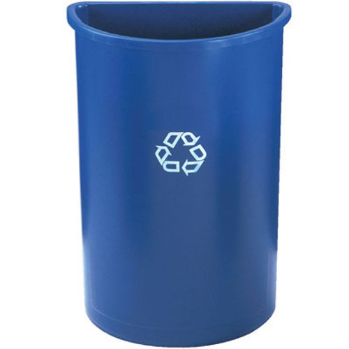 Rubbermaid Half-Round Recycling Container, Plastic, 21 gal, Blue (RCP 3520-73 BLU)