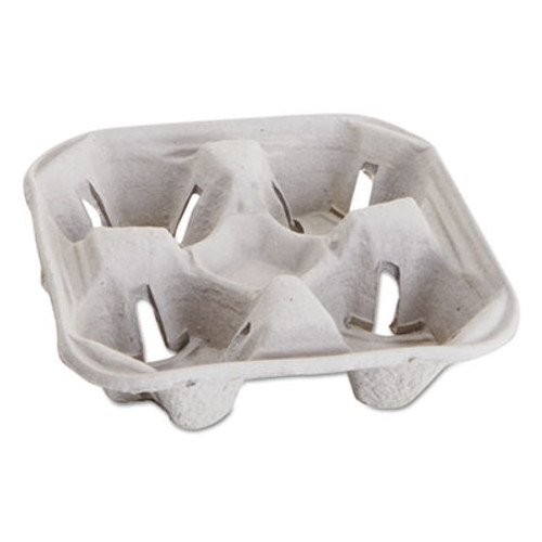 Boardwalk Carryout Cup Trays, 12-20oz, 4-Cup Capacity, 300/Carton (BPC 4CUP)