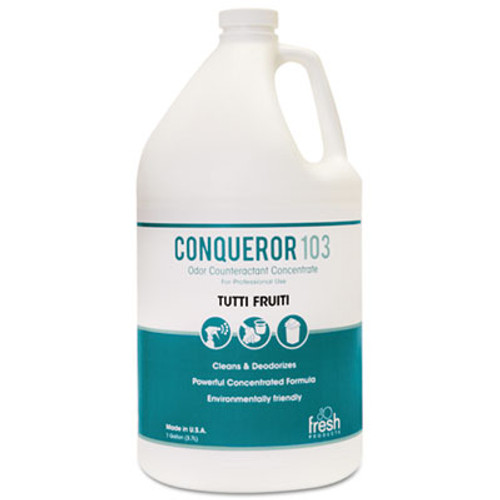 Fresh Products Conqueror 103 Odor Counteractant Concentrate, Tutti-Frutti, 1 gal Bottle, 4/CT (FRS 1-WB-TU)