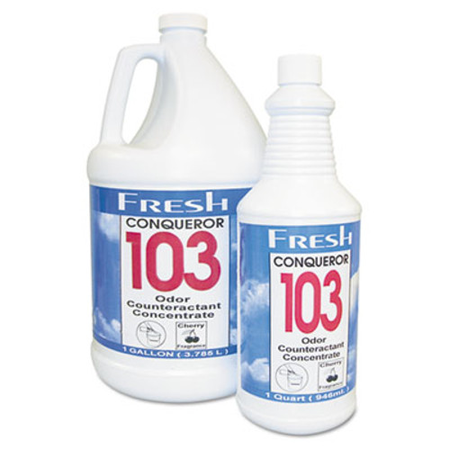 Fresh Products Conqueror 103 Odor Counteractant Concentrate, Cherry, 32oz Bottle, 12/Carton (FRS 12-32WB-CH)