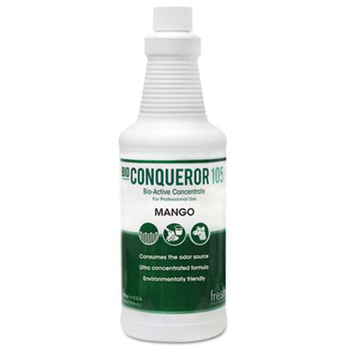 Fresh Products Bio Conqueror 105 Enzymatic Concentrate, Mango, 32oz, Bottle, 12/Carton (FRS 12-32BWB-MG)