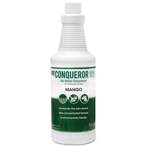 Fresh Products Bio Conqueror 105 Enzymatic Concentrate, Mango, 32oz, Bottle, 12/Carton (FRS 12-32BWB-MG)
