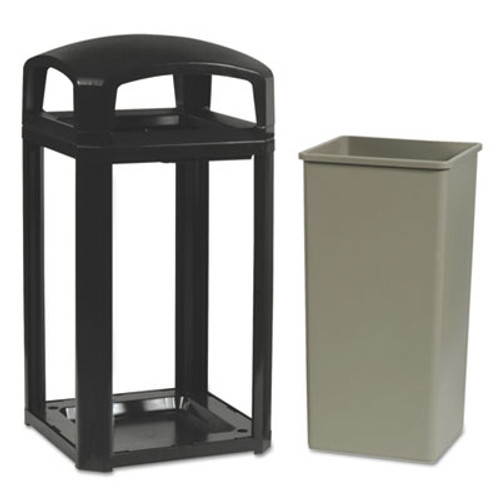 Rubbermaid Landmark Series Classic Dome Top Container, Plastic, 50 gal, Sable (RCP 3975 SAB)