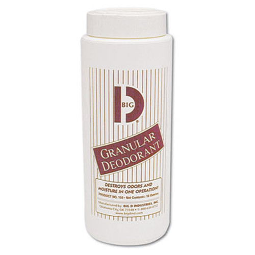 Big D Industries Granular Deodorant, Lemon, 16oz, Shaker Can, 12/Carton (BGD 150)