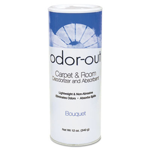 Fresh Products Odor-Out Rug/Room Deodorant, Bouquet, 12oz, Shaker Can, 12/Box (FRS 12-14-00BO)
