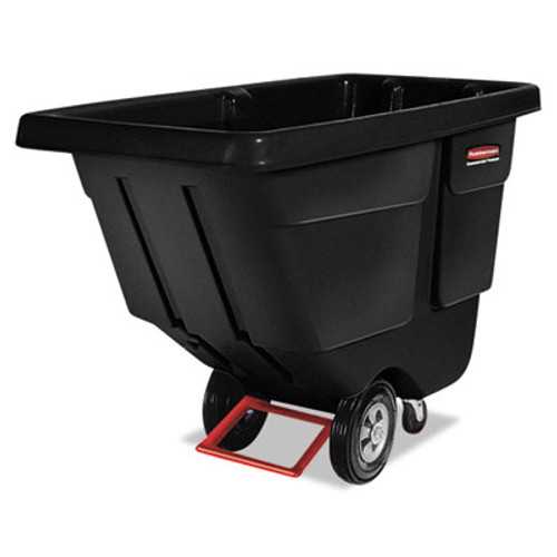 Rubbermaid Rotomolded Tilt Truck, Rectangular, Plastic, 450-lb Cap., Black (RCP 1304 BLA)