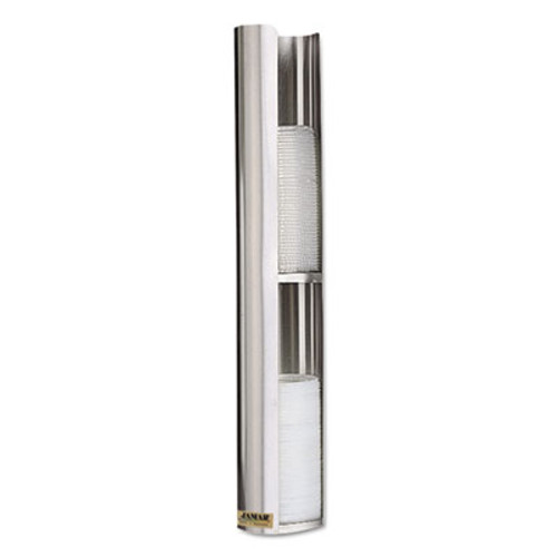 San Jamar Wall-Mount Cup Lid Dispenser, Stainless Steel (SAN L3402)