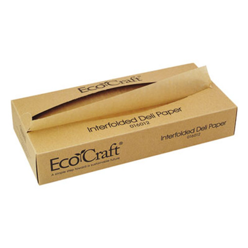 Bagcraft EcoCraft Interfolded Soy Wax Deli Sheets, 12 x 10 3/4, 500/Box, 12 Boxes/Carton (BGC 016012)