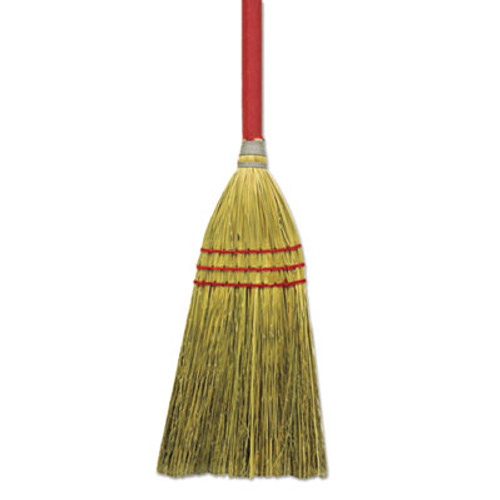 "Boardwalk Corn/Fiber Lobby Brooms, 36"", Gray/Natural, 12/Carton (BWK BR10016)"