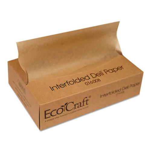 Bagcraft EcoCraft Interfolded Soy Wax Deli Sheets, 8 x 10 3/4, 500/Box, 12 Boxes/Carton (BGC 016008)
