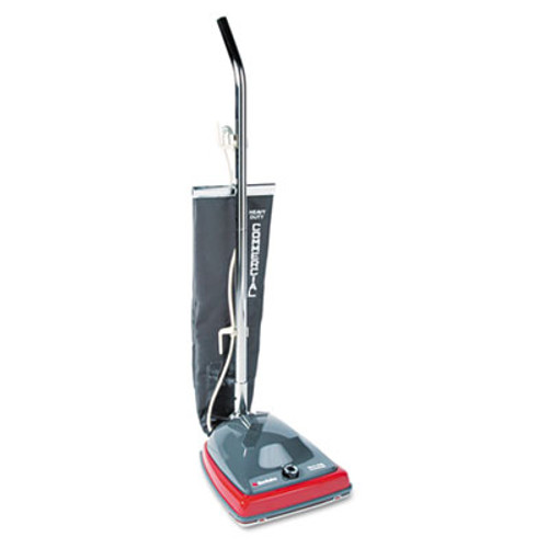 Sanitaire Commercial Lightweight Upright Vacuum, Bag-Style, 12lb, Gray/Red (EUR 679)