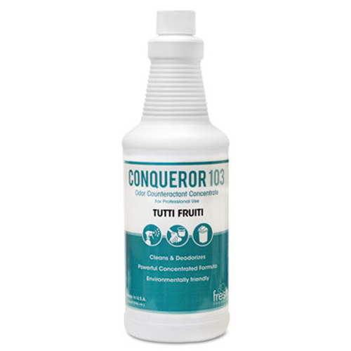 Fresh Products Conqueror 103 Odor Counteractant Concentrate, Tutti-Frutti, 32oz Bottle, 12/CT (FRS 12-32WB-TU)