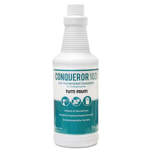 Fresh Products Conqueror 103 Odor Counteractant Concentrate, Tutti-Frutti, 32oz Bottle, 12/CT (FRS 12-32WB-TU)