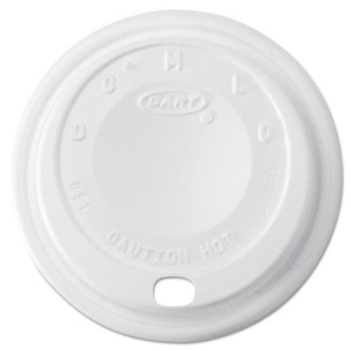 Dart Cappuccino Dome Sipper Lids, 8-10oz Cups, White, 1000/Carton (DCC 8EL)