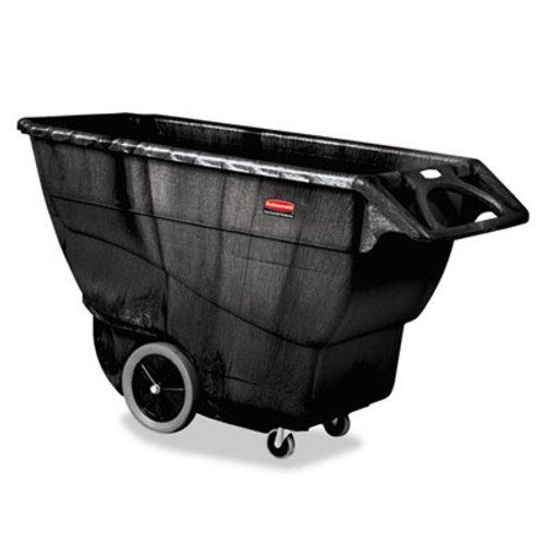 Rubbermaid Structural Foam Tilt Truck, Rectangular, 2100 lb. Cap., Black (RCP 9T16 BLA)