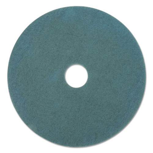 "Boardwalk Standard Scrubbing Floor Pads, 18"" Diameter, Blue, 5/Carton (PAD 4018 BLU)"