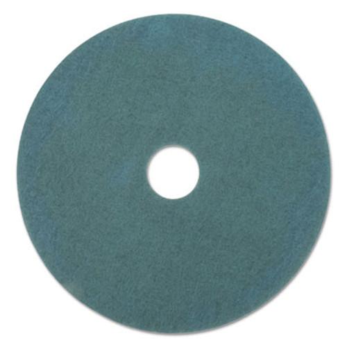"Boardwalk Standard Scrubbing Floor Pads, 18"" Diameter, Blue, 5/Carton (PAD 4018 BLU)"