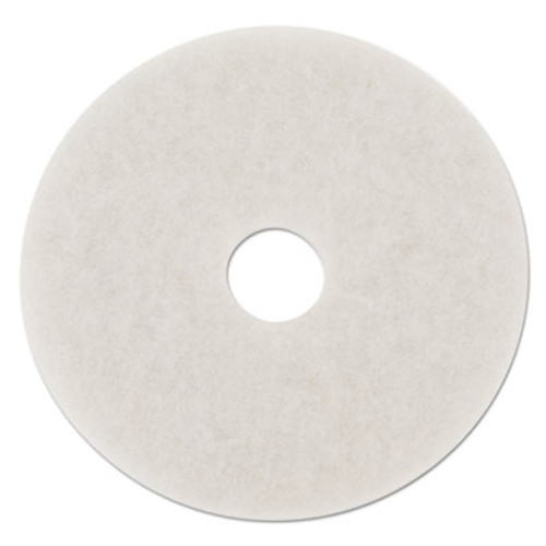 "Boardwalk Standard Polishing Floor Pads, 14"" Diameter, White, 5/Carton (PAD 4014 WHI)"
