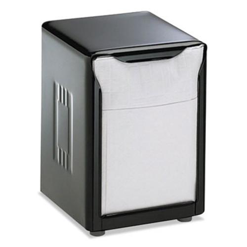 San Jamar Tabletop Napkin Dispenser, Low Fold, 3 3/4 x 4 x 5 1/2, Capacity: 150, Black (SAN H985BK)