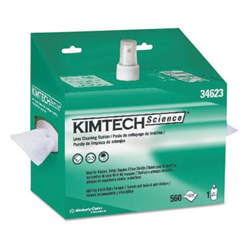 Kimtech* Lens Cleaning Station, 8oz Spray, 4 2/5 X 8 1/2, 560/Box, 4 Boxes/Carton (KCC 34623)