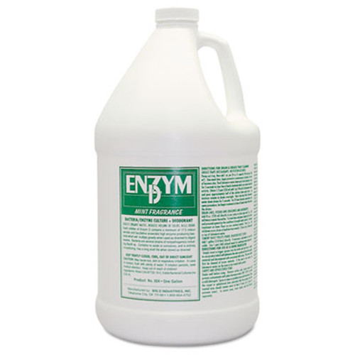 Big D Industries Enzym D Digester Deodorant, Mint, 1Gal, Bottle, 4/Carton (BGD 1504)