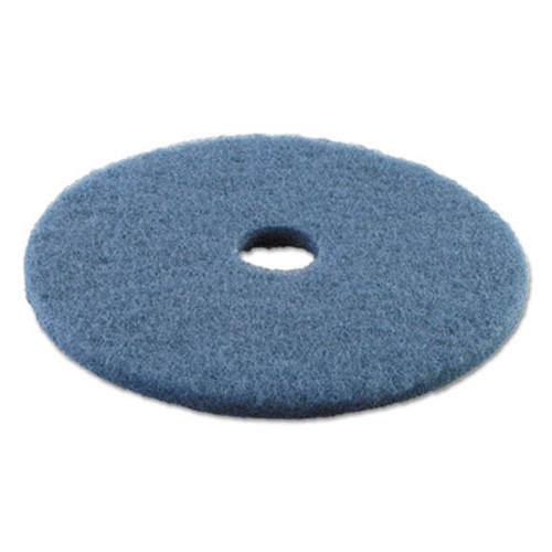"Boardwalk Standard Scrubbing Floor Pads, 19"" Diameter, Blue, 5/Carton (PAD 4019 BLU)"