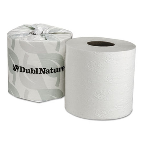 Wausau Paper DublNature Universal Bathroom Tissue, 2-Ply, 500 Sheets/Roll, 80 Rolls Carton (WAU 59890)