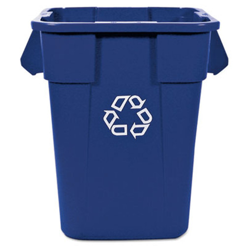 Rubbermaid Brute Recycling Container, Square, Polyethylene, 40 gal, Blue (RCP 3536-73 BLU)