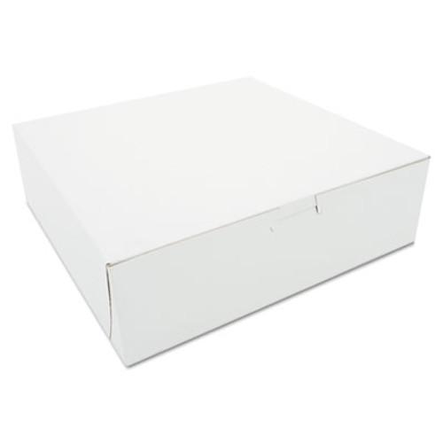 SCT Tuck-Top Bakery Boxes, 10w x 10d x 3h, White, 200/Carton (SCH 0971)