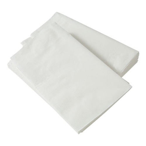 Paper Source Converting 1/8-Fold Dinner Napkins, 2-Ply, 15 x 17, White, 300/Pack, 10 Packs/Carton (PSC 52700)