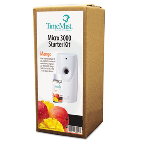 TimeMist 3000 Shot Micro Starter Kit, Mango, White/Gray (TMS 32-6360TMCA)