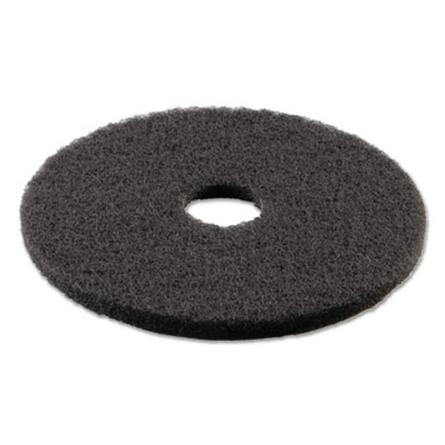 "Boardwalk Standard Stripping Floor Pads, 16"" Diameter, Black, 5/Carton (PAD 4016 BLA)"