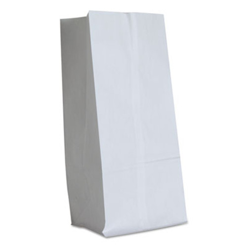General #16 Paper Grocery Bag, 40lb White, Standard 7 3/4 x 4 13/16 x 16, 500 bags (BAG GW16-500)