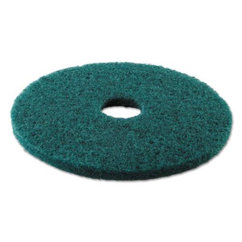 """Boardwalk Standard Heavy-Duty Scrubbing Floor Pads, 17"""" Diameter, Green, 5/Carton (PAD 4017 GRE)"""