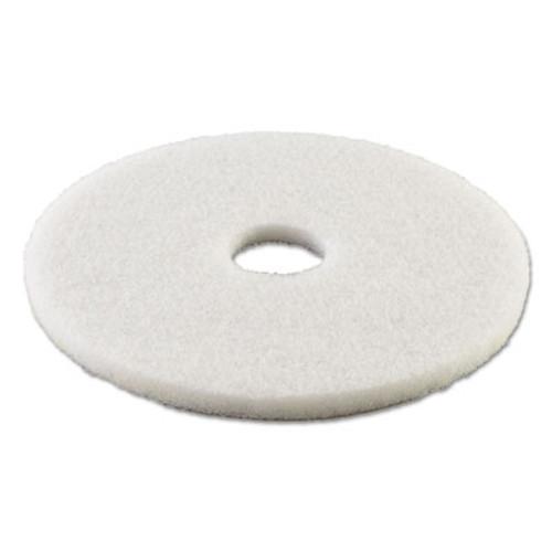 "Boardwalk Standard Polishing Floor Pads, 13"" Diameter, White, 5/Carton (PAD 4013 WHI)"