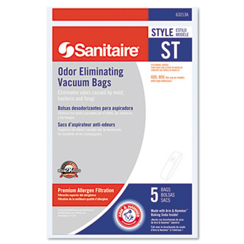 Electrolux Sanitaire Style ST Disposable Vacuum Bags for SC600 & SC800 Series, 5/Pack (EUR63213B10)