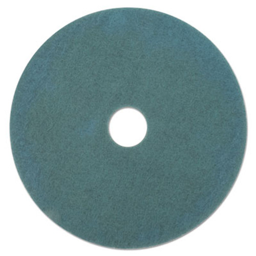 "Boardwalk Ultra High-Speed High Burnish Floor Pads, 19"" Diameter, Aqua, 5/Carton (PAD 4019 AQU)"