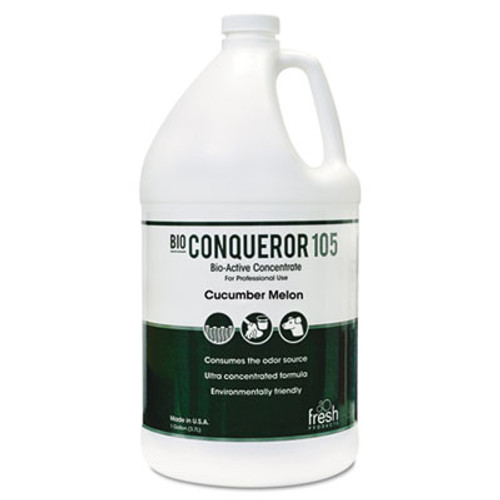 Fresh Products Bio-C 105 Odor Counteractant Concentrate, Cucumber Melon, 1gal, Bottle, 4/Carton (FRS 1-BWB-CM-F)