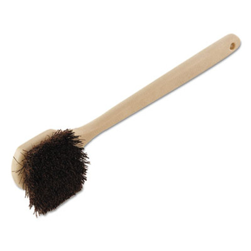 "Boardwalk Palmyra Bristle Utility Brush, Plastic, 20"", Tan Handle (BWK 4120)"