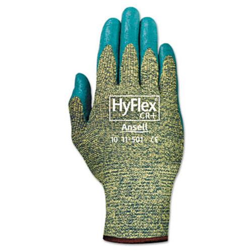 AnsellPro HyFlex 501 Medium-Duty Gloves, Size 8, Kevlar/Nitrile, Blue/Green, 12 Pairs (ANS115018)