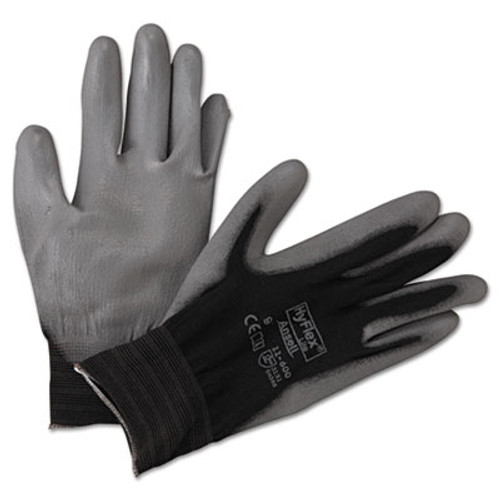 AnsellPro HyFlex Lite Gloves, Black/Gray, Size 9, 12 Pairs (ANS116009BK)