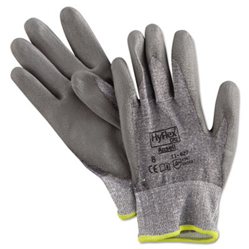 AnsellPro HyFlex 627 Light-Duty Gloves, Size 8, Dyneema/Lycra/Polyurethane, GY, 12 Pairs (ANS116278)
