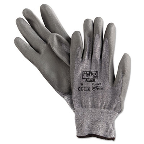 AnsellPro HyFlex 627 Light-Duty Gloves, Size 9, Dyneema/Lycra/Polyurethane, GY, 12 Pairs (ANS116279)