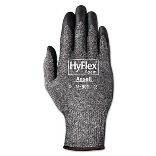 AnsellPro HyFlex Foam Gloves, Dark Gray/Black, Size 10, 12 Pairs (ANS1180110)