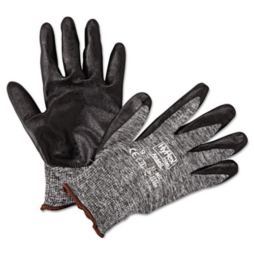AnsellPro HyFlex Foam Gloves, Dark Gray/Black, Size 9, 12 Pairs (ANS118019)