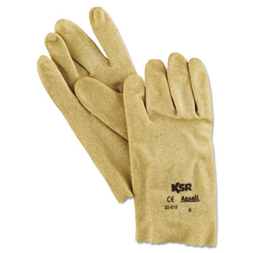 AnsellPro KSR Multi-Purpose Vinyl Gloves, Tan, Size 9, 12 Pairs (ANS225159)