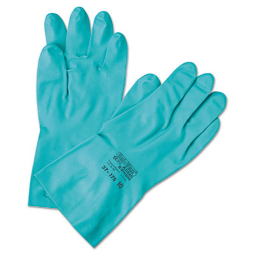 AnsellPro Sol-Vex Sandpatch-Grip Nitrile Gloves, Green, Size 10, 12 Pairs (ANS3717510)