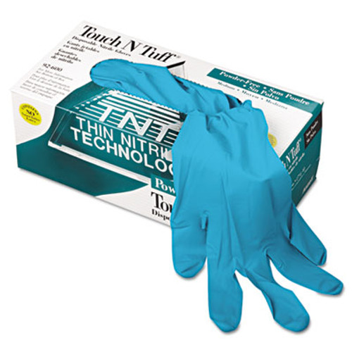 AnsellPro Touch N Tuff Nitrile Gloves, Teal, Size 7 1/2 - 8, 100/Box (ANS92600758)