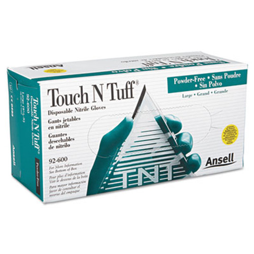 AnsellPro Touch N Tuff Nitrile Gloves, Teal, Size 8 1/2 - 9, 100/Box (ANS92600859)