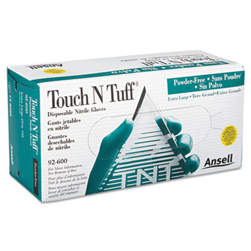 AnsellPro Touch N Tuff Nitrile Gloves, Teal, Size 9 1/2 - 10, 100/Box (ANS926009510)